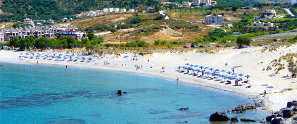 A view of Plakias Beach on the southern coast of Crete. Photo credit Pat Neary CC BY-SA.