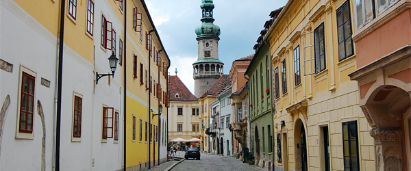 The historic Fire Tower in Old Town Sopron. Photo credit Istvan.