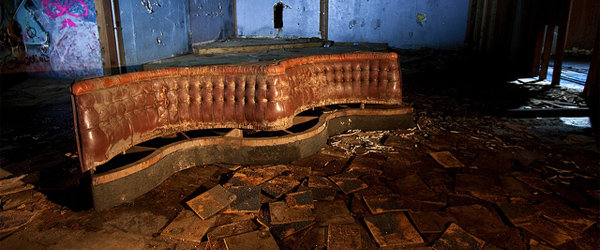 Old leather seats at Tagus Ranch. Photo credit Jonathan Haeber.