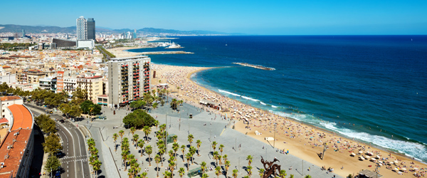 The beaches of Barcelona are some of the best urban beaches in the world.