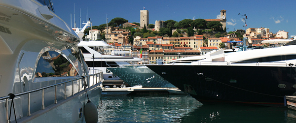 Luxury yachts dot the coastline on the French Riviera, but nowhere more so than Cannes.