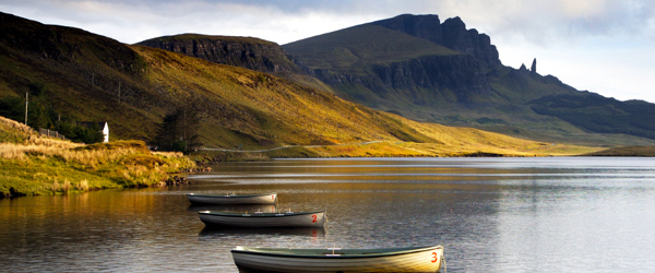 A look at the rugged coastline of Scotland's Isle of Skye.