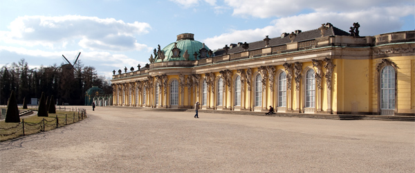 The beautiful Schloss Sanssouci is a big attraction in Potsdam. Photo by HydaspisChaos/Flickr.