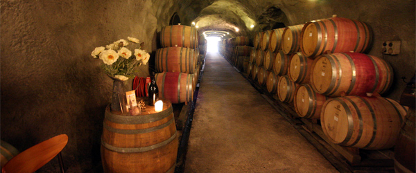 The wine cave at Gibbston Valley WInes. Photo by spaceyjessie/Flickr.