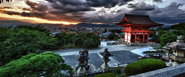 The panoramic views of Kyoto from Kiyomizu-dera.