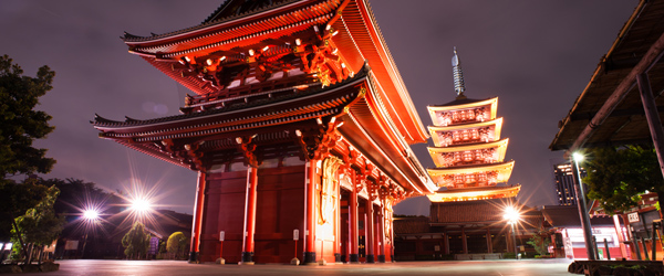 Tokyo's famed Sensō-ji in the Asakusa neighborhood.