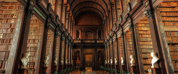 The Long Room in the library at Dublin's Trinity College. Photo by Juergen Jauth/Flickr.