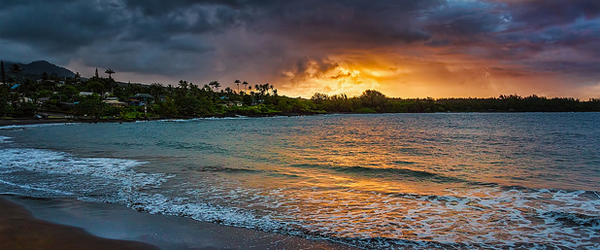 A sunset as seen from Hana in Maui. Photo by Eugen Naiman.