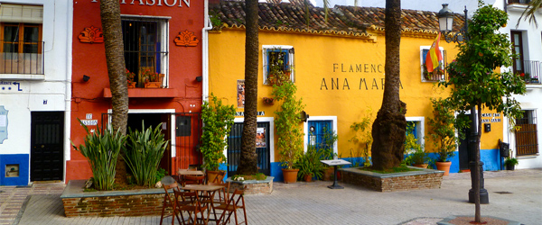 On the colorful streets of Marbella's Old Town. Photo by HerryLawford/Flickr.