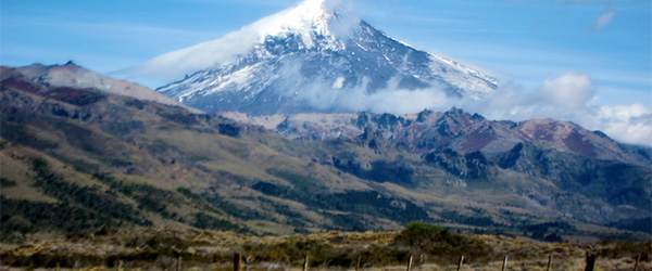 The Lanin Volcano in Argentina's Lanin National Park. Photo by DoNotLick/Flickr.
