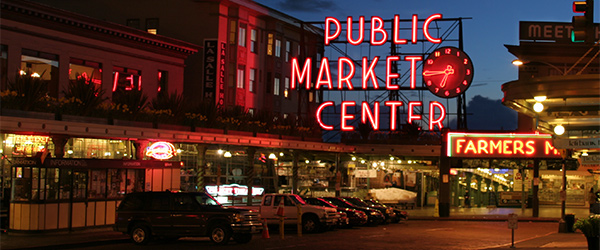 The Pike Place Market is one of Seattle's top tourist attractions. Photo by michaelrighi/Flickr.