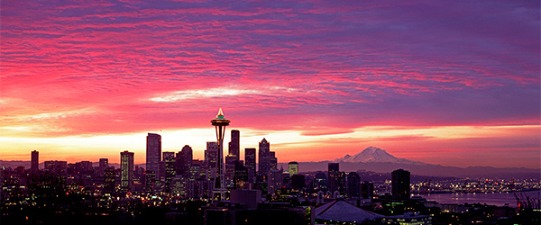A lovely view of the Seattle skyline.
