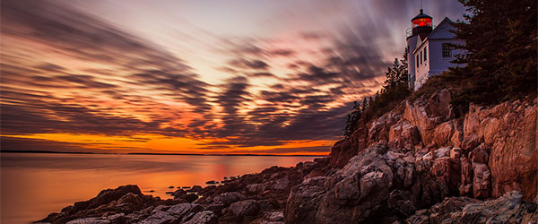 A dazzling sunset as seen from the Acadia National Park. Photo by Tom.Bricker/Flickr.