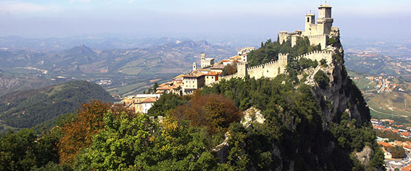 The Castle of San Marino is one of the country's top sights.