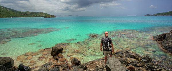 A tourist exploring the Virgin Islands National Park. Photo by Dave-a-roni (Dark Spot Photography)/Flickr.