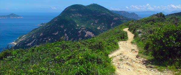 On the Dragon's Back Hiking Trail overlooking Shek O.
