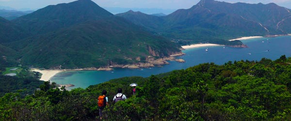 The hiking trail going to Ham Tin from Long Ke.