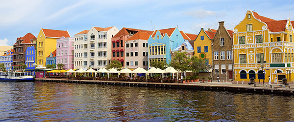 The beautiful and colorful Dutch-inspired buildings of Curacao.