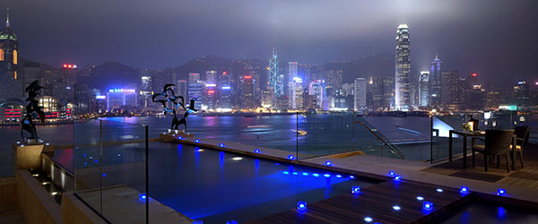 A private pool with a view of the Hong Kong Harbour? Yes, please!