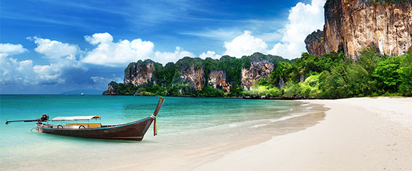 The stunning Railay Beach is a true backpacker hot spot.